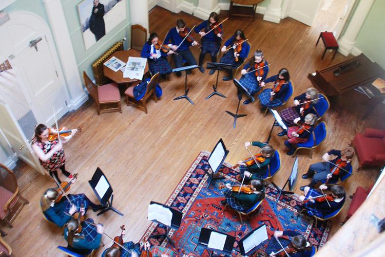 Урок музыки в Kilgraston School