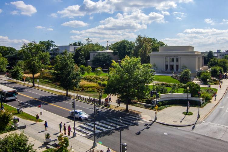 Вид сверху на American University