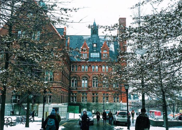 Зима в University of Vermont