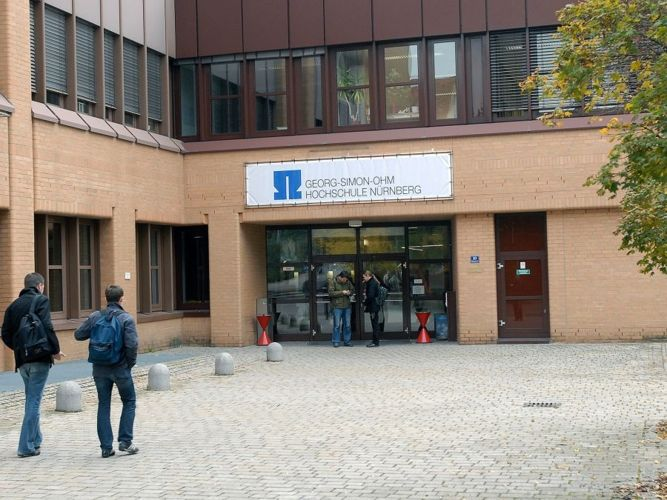 Главный вход в Technische Hochschule Nürnberg Georg Simon Ohm