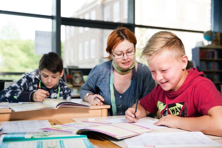 Занятия с учениками в International School Eerde