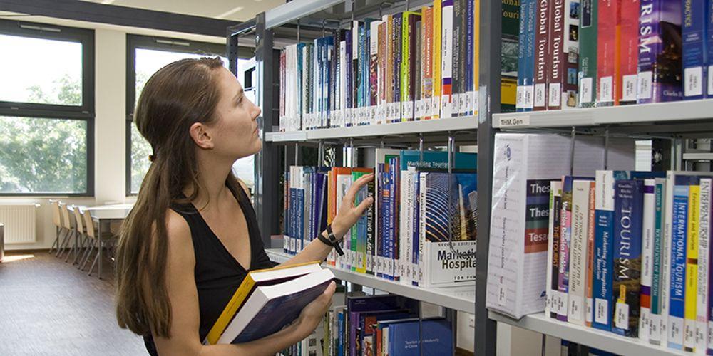 В библиотеке Modul University