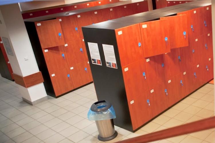 Личные шкафчики студентов MSM Academy