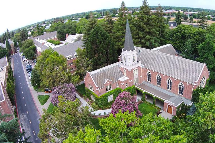 Вид сверху на University of the Pacific
