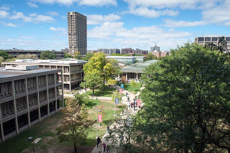 Вид сверху на University of Illinois at Chicago