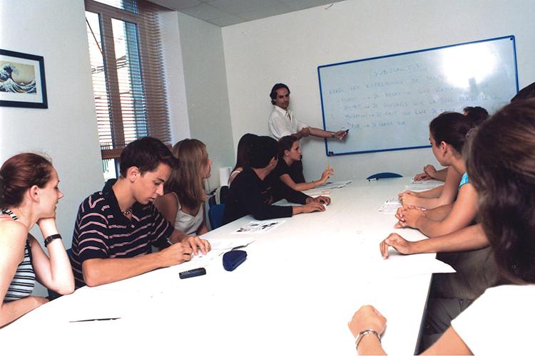 Процесс обучения в Azurlingua, Nice