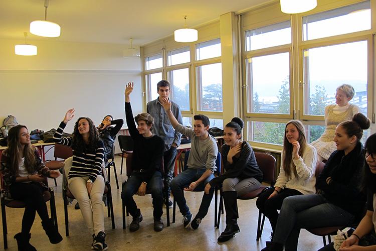 Занятие в Lemania College Lausanne