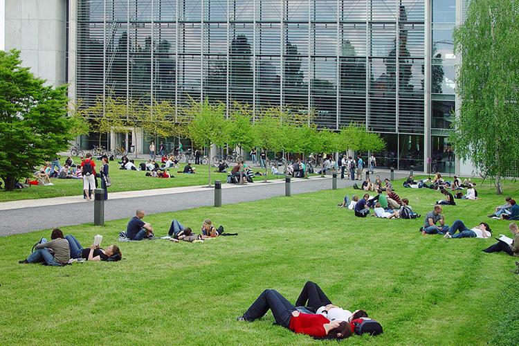 Парковая зона при Technische Universität Dresden