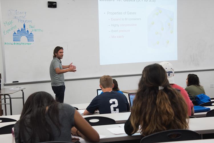 Студенты на лекции Texas A&M University-Corpus Christi