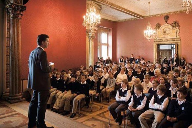 Выступление преподавателя в Schloss Neubeuern