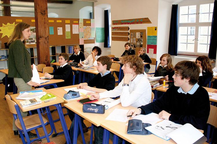 Лекция в Schule Schloss Salem