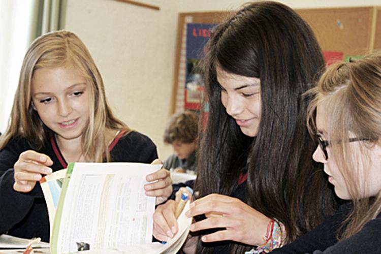 Студенты Stiftung Louisenlund на практике