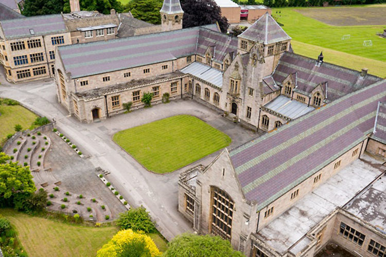 Кампус Мyddelton college Summer, Denbigh с высоты птичьего полета