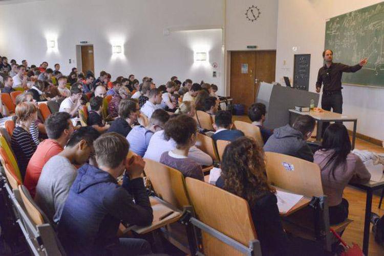 Студенты Technische Universität Berlin на лекции