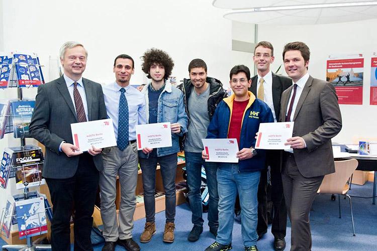 Награждение студентов Technische Universität Berlin