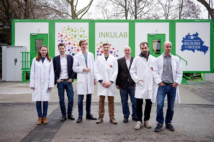 Студенты Technische Universität Berlin на выставке