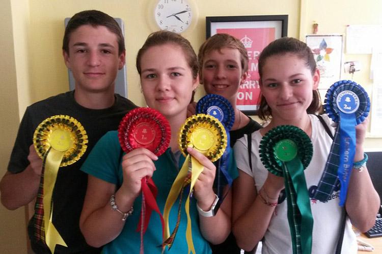 Награждение учеников Kilgraston Summer School