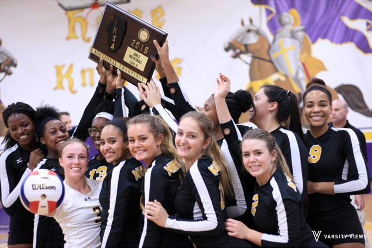 Женская спортивная команда Marian Catholic High School