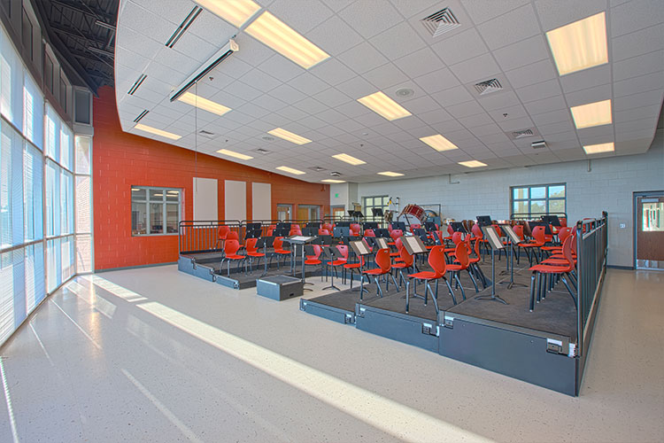 Музыкальный класс Archbishop Curley High School
