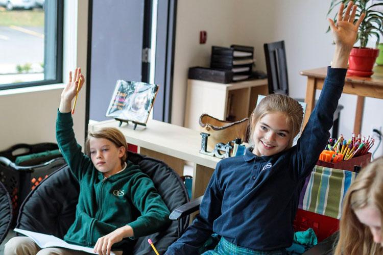 Занятия в младшей школе Oregon Episcopal School проходят весело и интересно