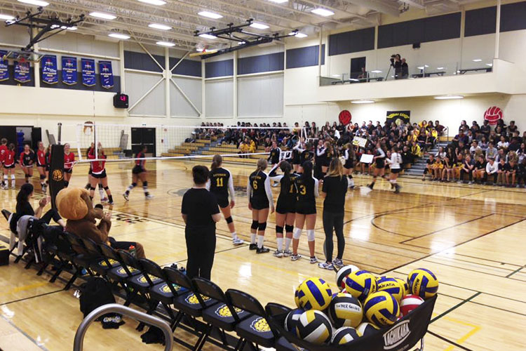 Соревнования по волейболу Luther College High School