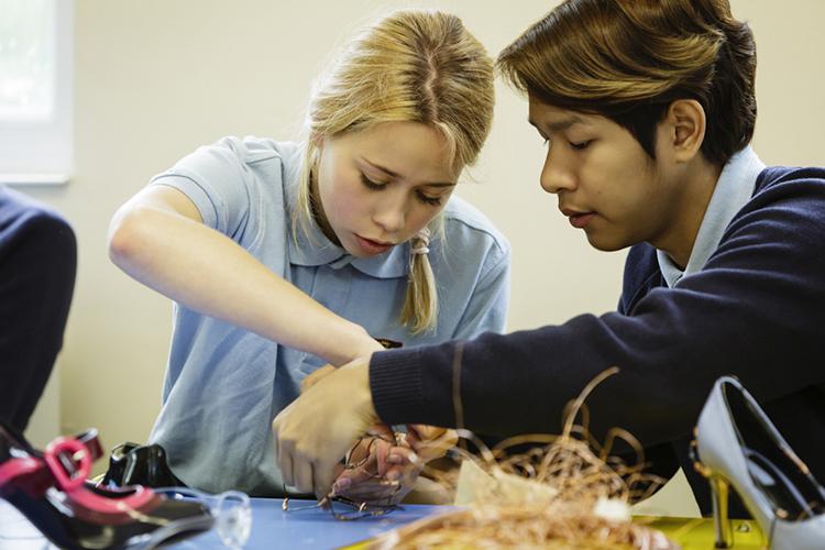 Студенты Bishopstrow College на занятии