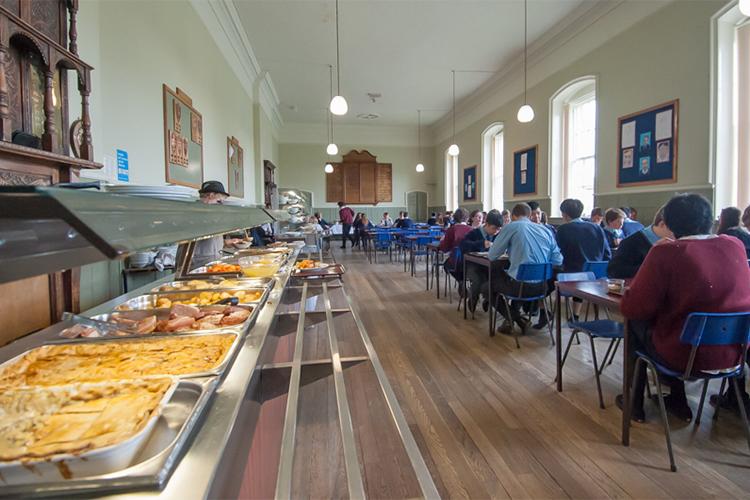 Кафетерий в Ackworth School