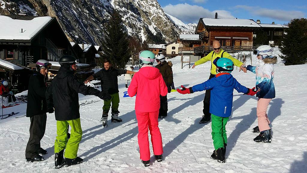 Зимний лагерь в Швейцарии Frilingue, St. Bernhard