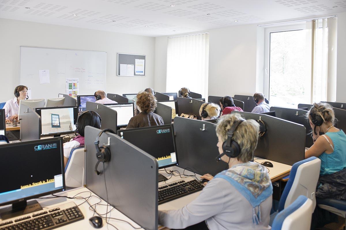 Занятия в языковой школе CERAN, Spa